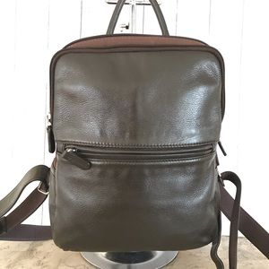 Vtg coach dark brown small backpack